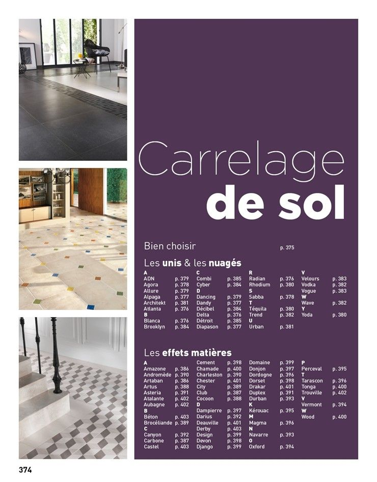 Catalogue Lapeyre Suisse - carrelage de sol Rénovations