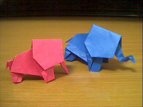 Easy Origami Elephant Papercraft Pinterest Origami Elephant