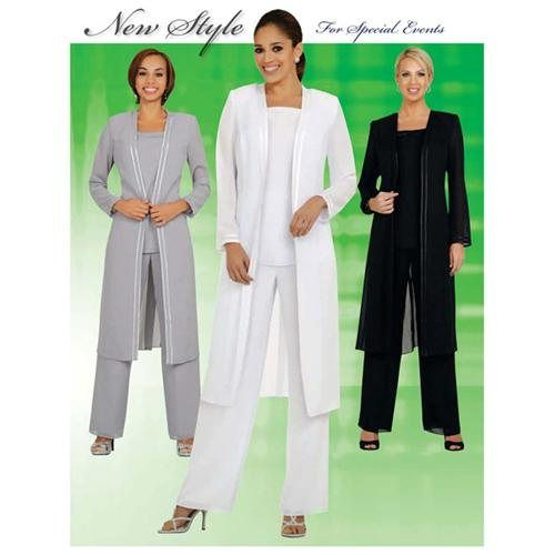 Womens 3pc Pant/Jacket Set Evening Wear, Mother Of The