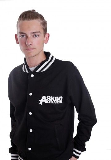 Asking Alexandria - Eagle Black/Black - College Jacke - Offizieller Metalcore Merchandise Online Shop - Impericon.com
