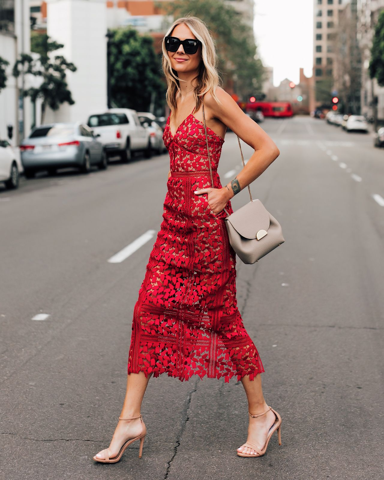 Shopbop Sale Red Self Portrait Dress Lace Self Portrait Dress Cocktail Dress Wedding Guest Dress In 2020 Fashion Jackson Red Lace Dress Red Lace Midi Dress