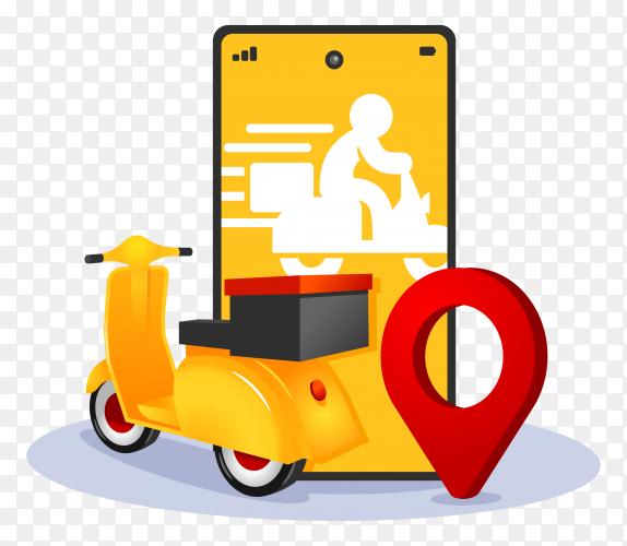 Online Delivery Service Mobile App Vector Illustration Png Milk Advertising Mobile App Illustration
