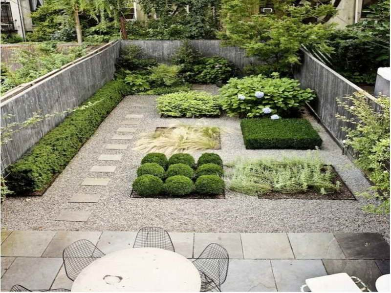 Pea gravel patio polymers pea gravel patio for Small gravel garden designs