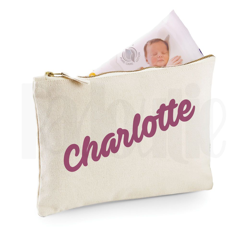 GIFT FOR NEW BABY Personalised Baby Nappy Pouch// Mini Changing Bag #CHPIAV