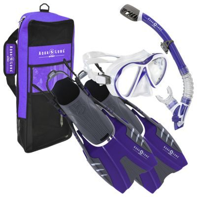 """Aqua Lung Sport Jewel LX Snorkel Set for Ladies - Purple - S/M: """"""""""""You'll always be ready for a… #Fishing #Boating #Hunting #Camping"""