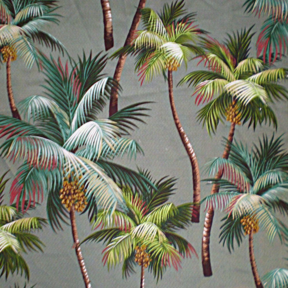/\ /\ . Waikiki Palm Barkcloth