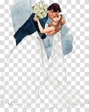Bride And Groom Kissing Illustration Wedding Drawing Bridegroom Marriage Kissing Couple Transparent Background Png Cl Wedding Drawing Kiss Illustration Groom