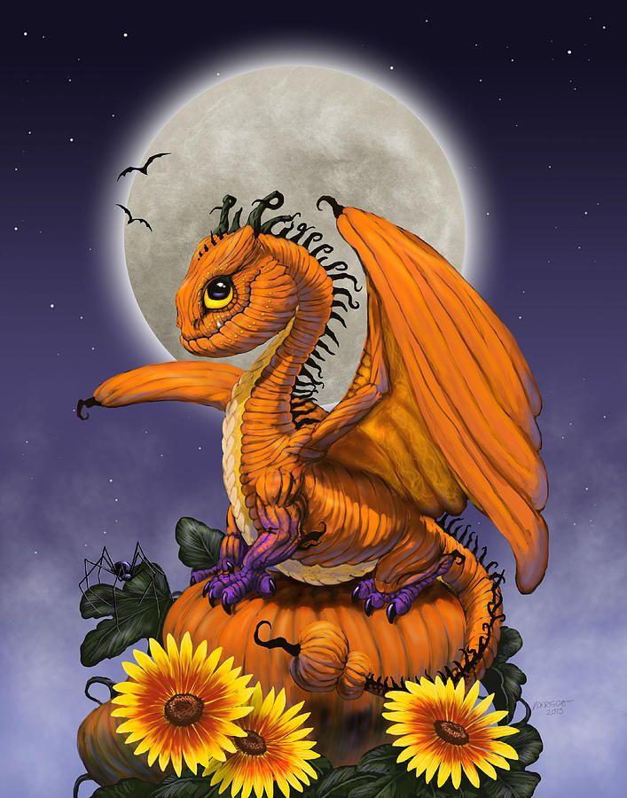 Pumpkin Dragon Digital Art by Stanley Morrison