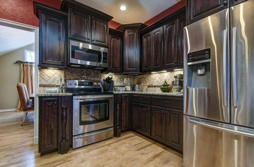 27 Small Kitchens With Dark Cabinets Design Ideas Kitchen Remodel Wood