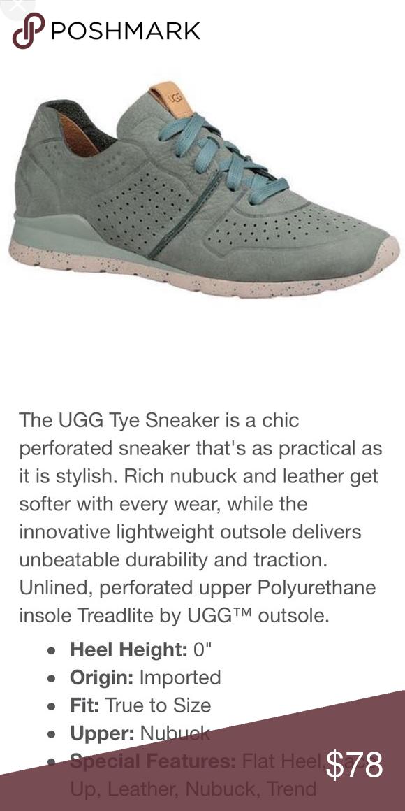 b430ff1ce03 Ugg Tye Sneaker Aloe Vera Nubuck Women's size 9, VGUC, color is aloe ...