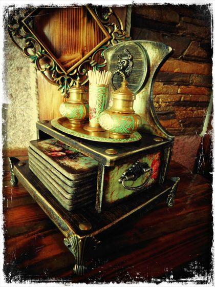 """Кухня ручной работы. Ярмарка Мастеров - ручная работа. Купить Полка """"Виктория"""". Handmade. Коричневый, набор подставок, дерево"""