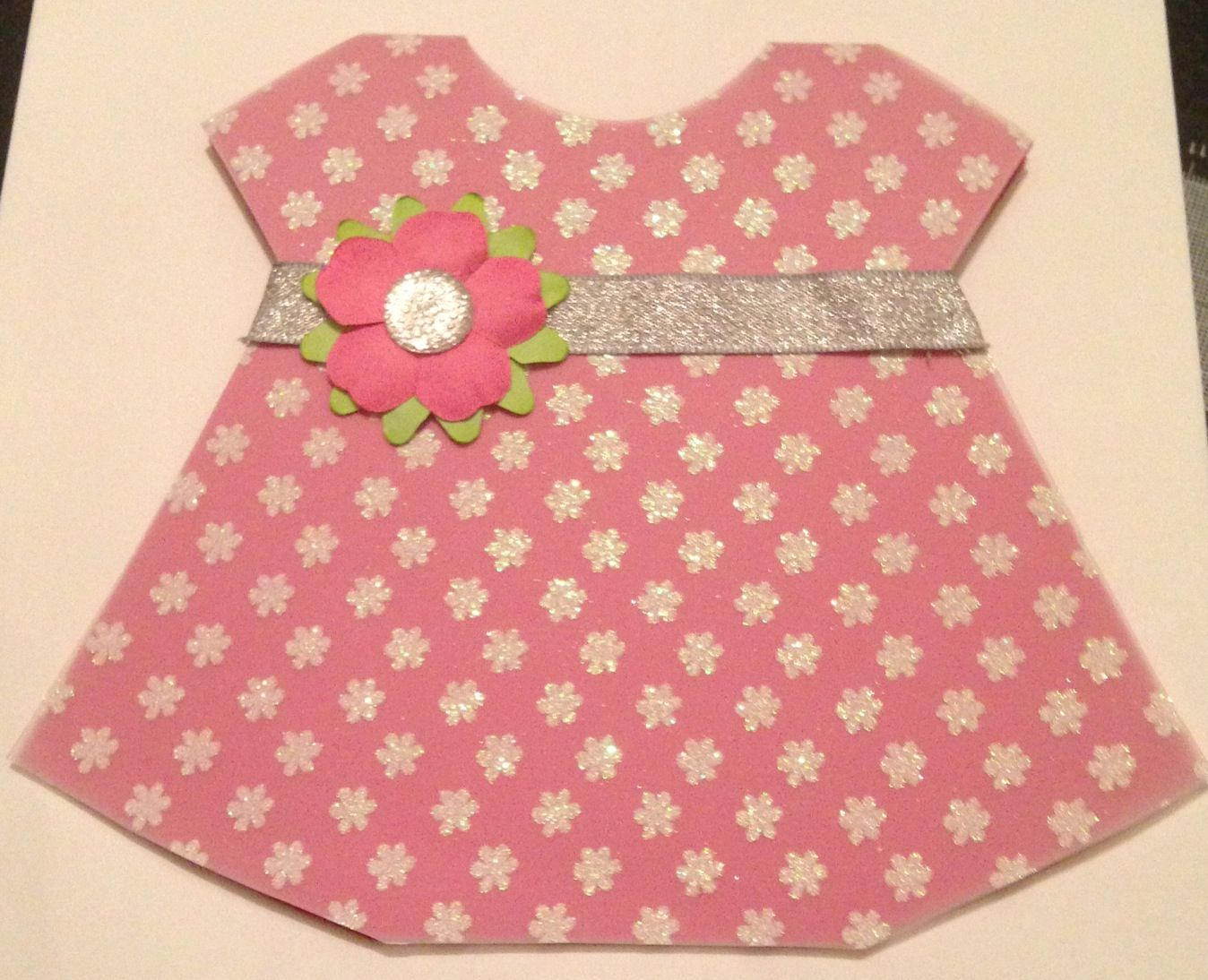 Handmade dress card by AnnMade (front view)