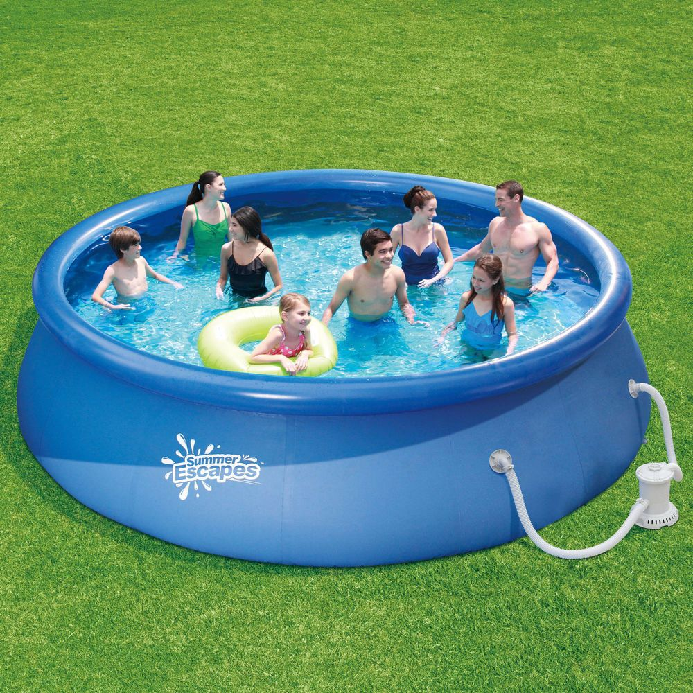 Round Above Ground Swimming Pool Inflatable Portable Backyard W Filter Pump New Nonbranded Easy Set Pools Inflatable Swimming Pool Swimming Pools