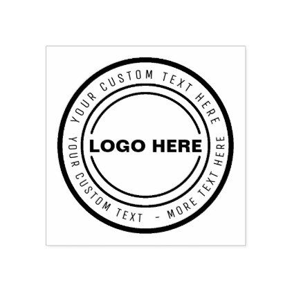 Custom BUSINESS LOGO STAMP - business template gifts unique - stamp template