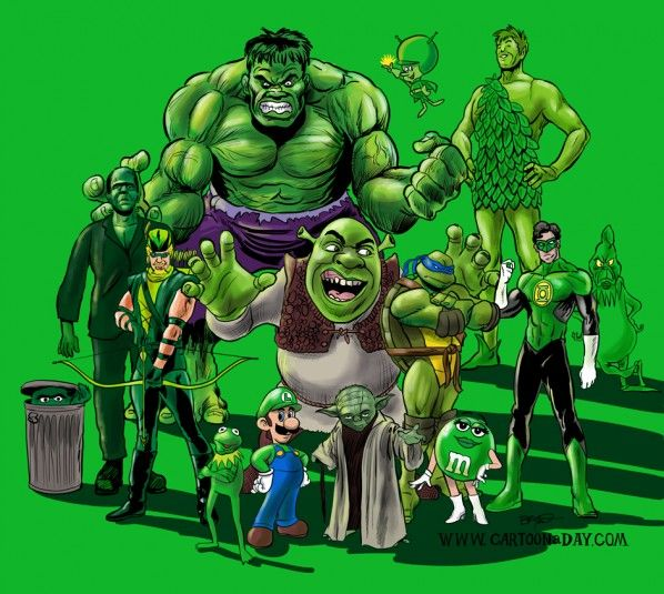 Famous Green Fictional Characters In 2019  Green -5899