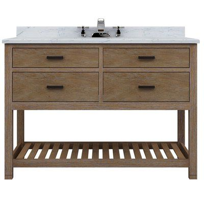 Sagehill Designs Toby 48 Bathroom Vanity Cabinet Only With Four Drawers