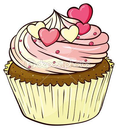 Cupcake Stock Illustration 14219581 Cartoon Cupcakes Cupcake Vektor Schulanfang