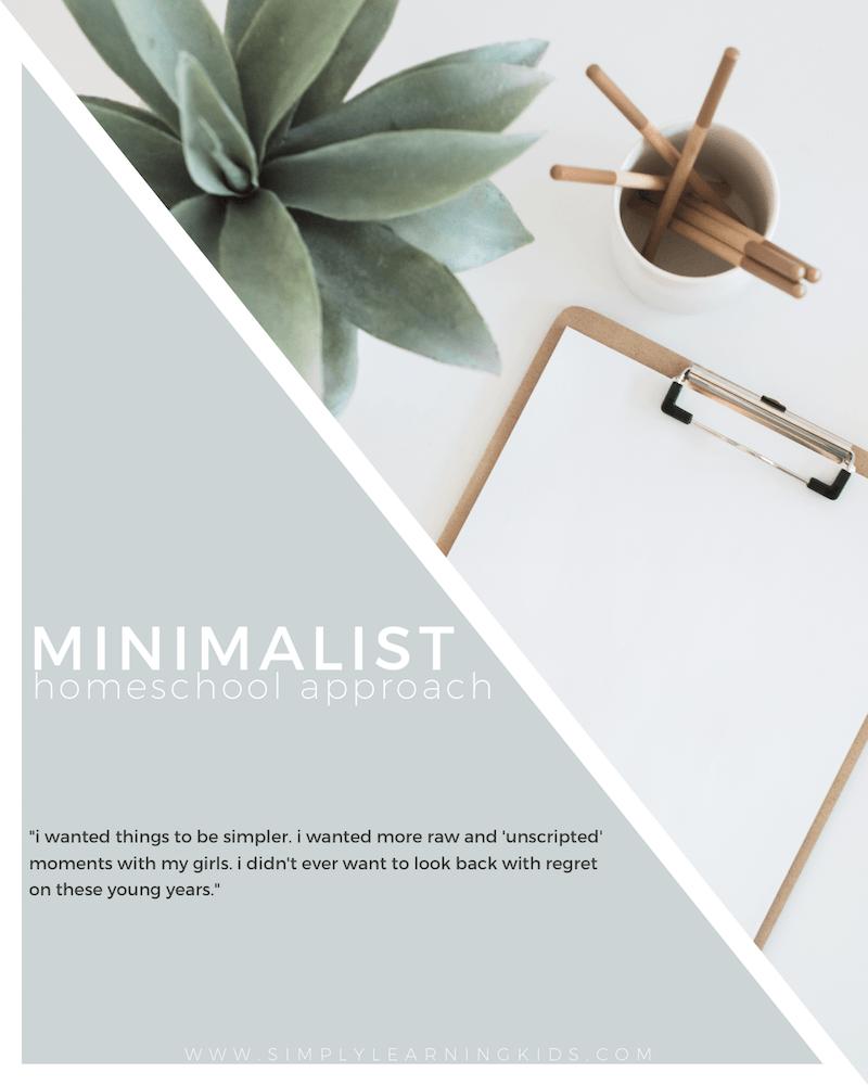 Minimalist Homeschool Room: Minimalist Homeschool Approach