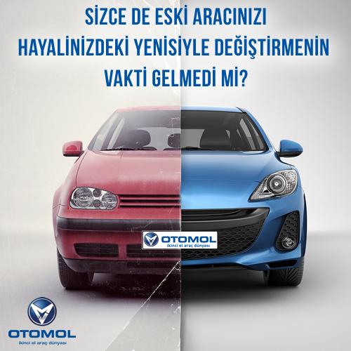 Otomol, eski aracınızın değerini biliyor, onu gerçek değerinde sizden alarak hayalinizdeki daha yenisiyle değiştiriyor.