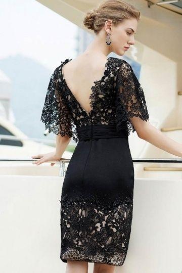 Petite robe noire en dentelle dos décolleté V   la petite robe noire    blanche   Pinterest   Fashion dresses, Robe et Nice dresses 5f9b7f1e4cb3
