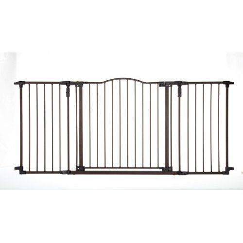 North States Supergate Deluxe Du00e9cor Metal Gate Brown Baby Safety Gate Pet Gate Baby Gates