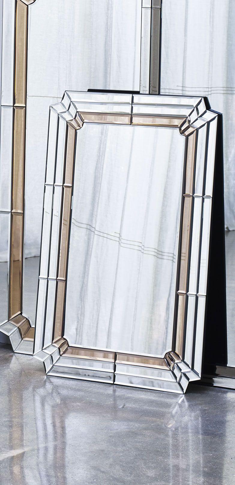 Aurora Pink Glass Wall Mirror Large Art Deco Bedroom Art Deco Bathroom Art Deco Interior Design [ 1617 x 783 Pixel ]
