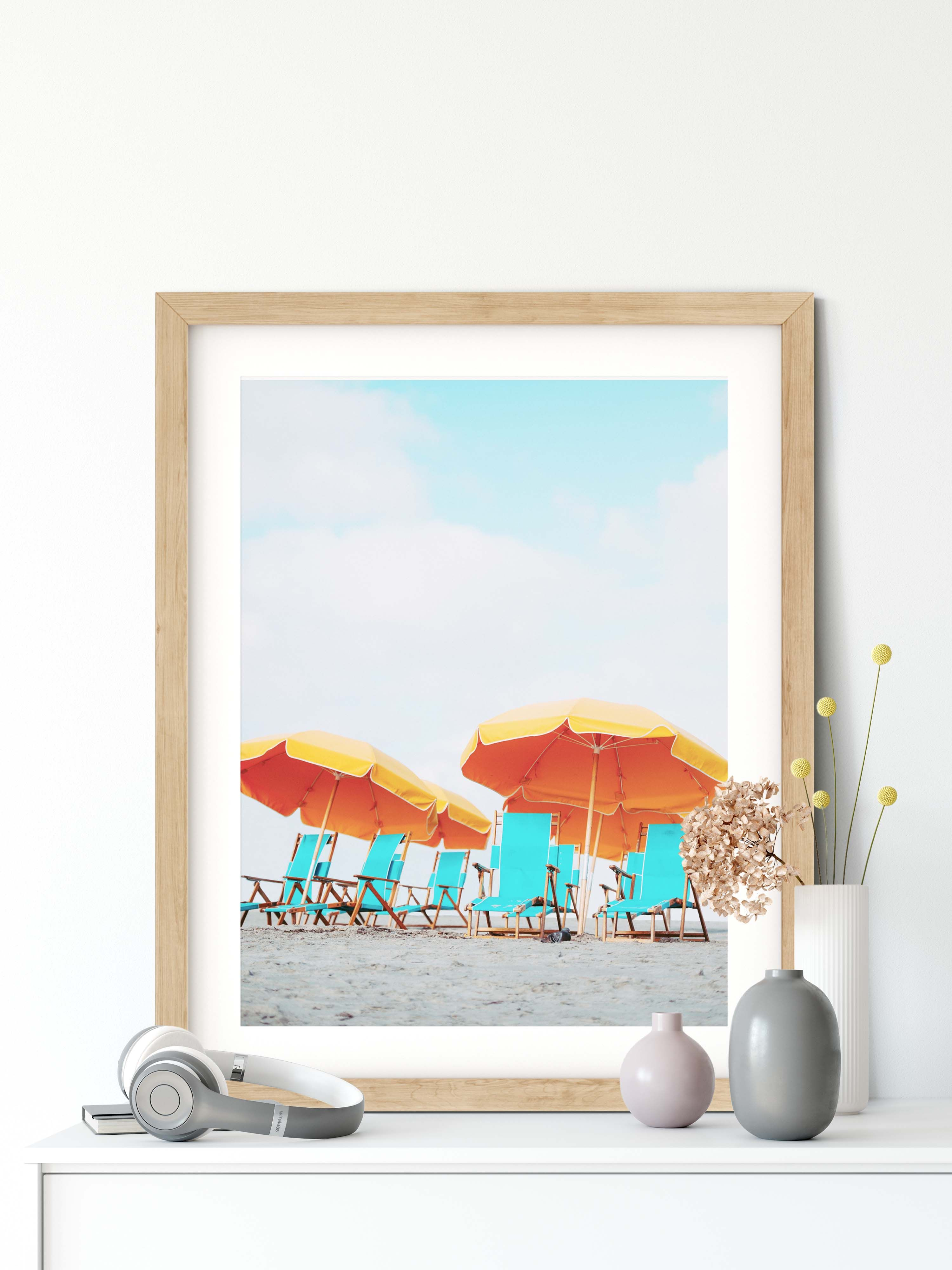 Beach Chairs Printable Digital Download Printable Wall Art