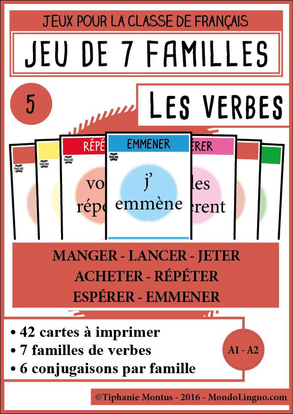 7f Les Verbes 5 Mondolinguo Francais Conjugaison Jeu Conjugaison Conjugaison Ce2
