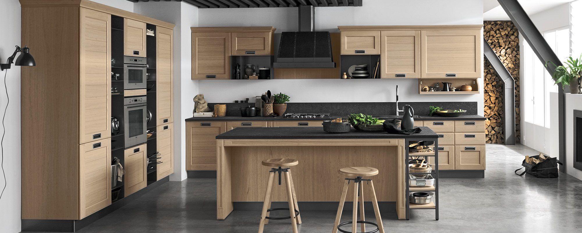 Cucine moderne contemporanee stosa modello cucina york for Modelli sedie cucina