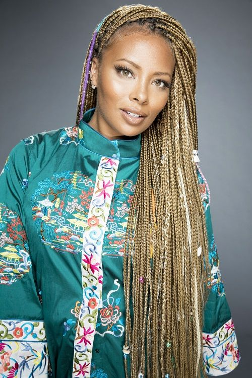 Eva Marcille Braids In 2019 Blonde Braids Blonde Box