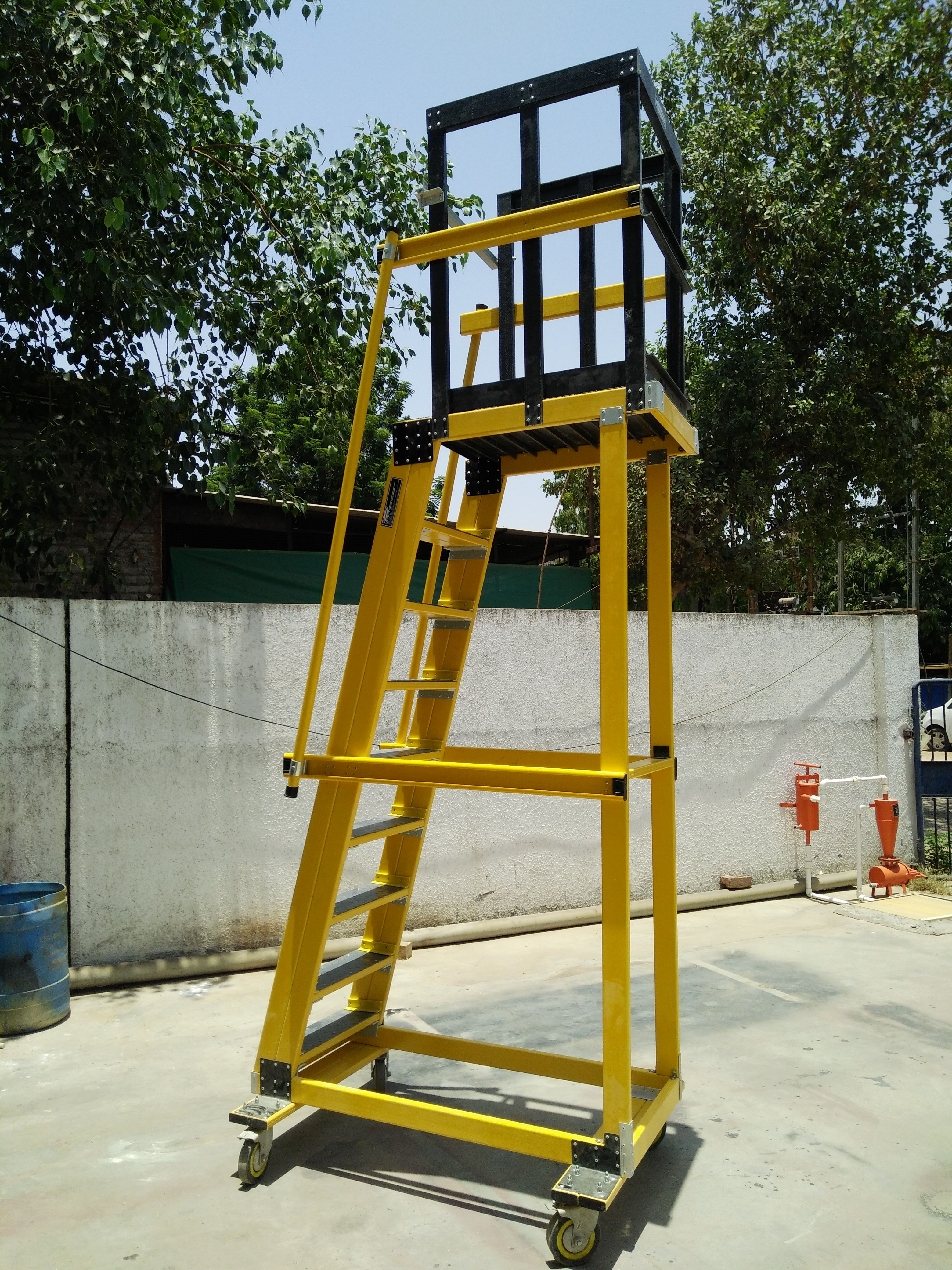 Mobile Platform Ladder Platform Ladder Conductive Materials Ladder