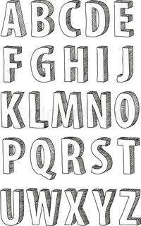 1000+ ideas about 3d Letters on Pinterest | 3d Alphabet, Drop Cap ...