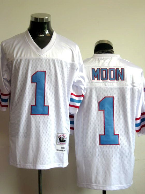1d5e85ae Warren Moon white jersey, Houston Oilers #1 Reebok Throwback jersey  ID:44310812 $20