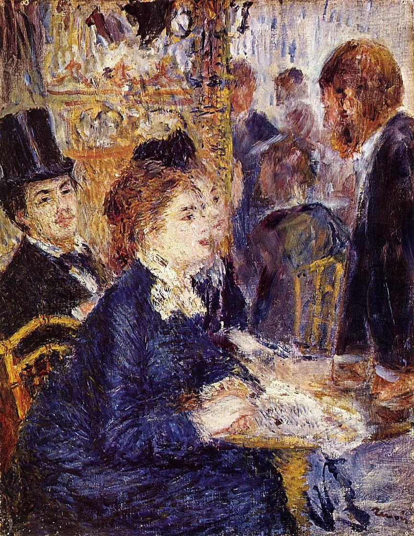 Renoir The Cafe 1874 Rijksmuseum Kroller Muller Otterlo