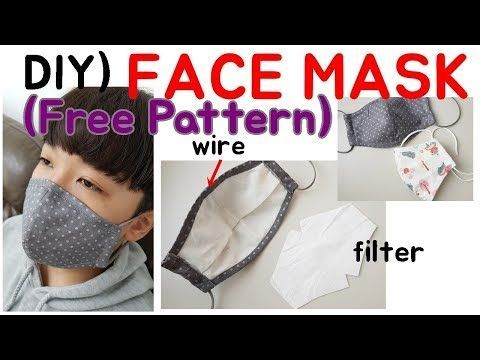 Photo of ENG) DIY) Create a mask / filter replacement make mask / Free Patterns / how to make a face mask /