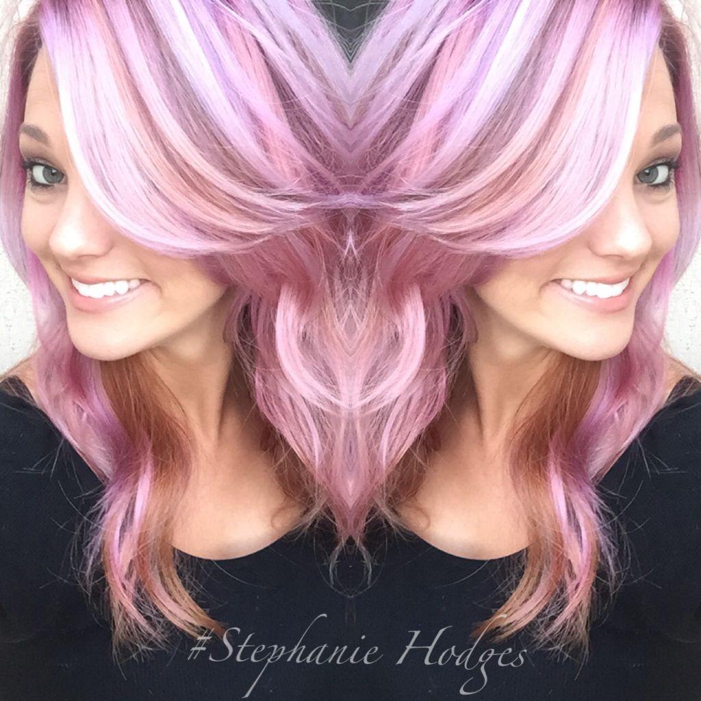 Violet Pink And Coral Pravana Color Melt Hair Pinterest Hair