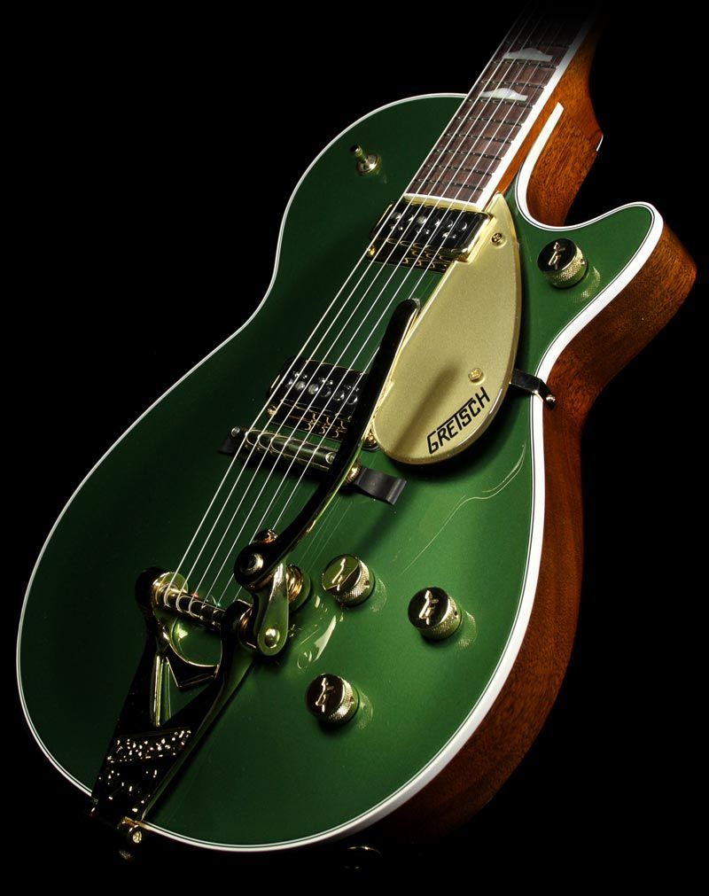 gretsch custom shop masterbuilt 39 57 duo jet electric guitar cadillac green with bigsby great. Black Bedroom Furniture Sets. Home Design Ideas
