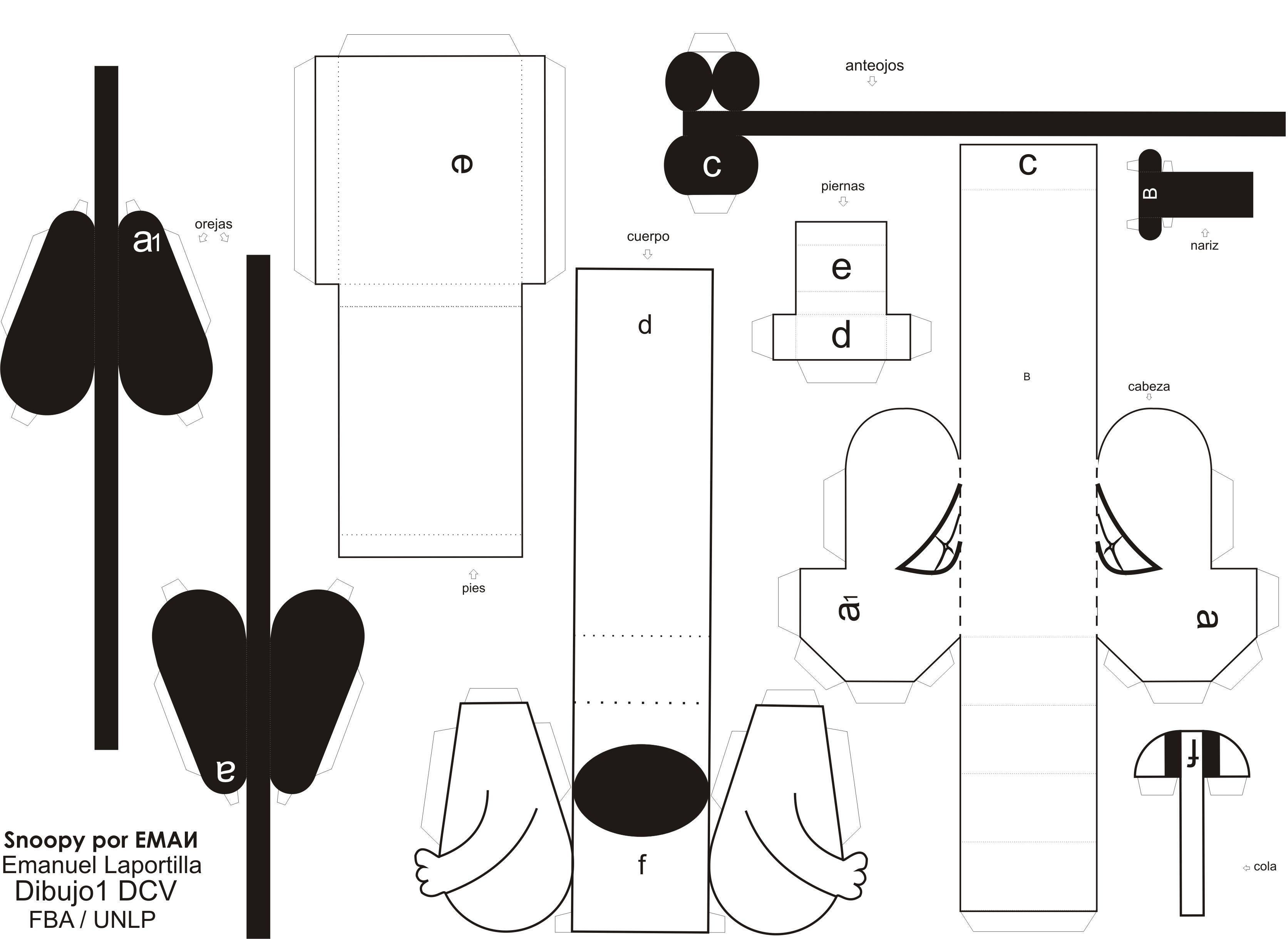 Papercraft... Snoopy - Friki.net | Ideas monas | Pinterest ...