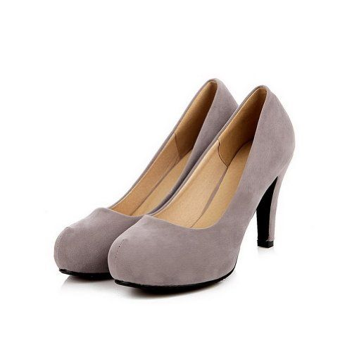 QueenFashion Women's Closed Round Toe High Heel Frosted Fabric Solid Pumps, Grey, 40 QueenFashion http://www.amazon.com/dp/B00JJLZGKU/ref=cm_sw_r_pi_dp_7jW-tb1P0T7B9