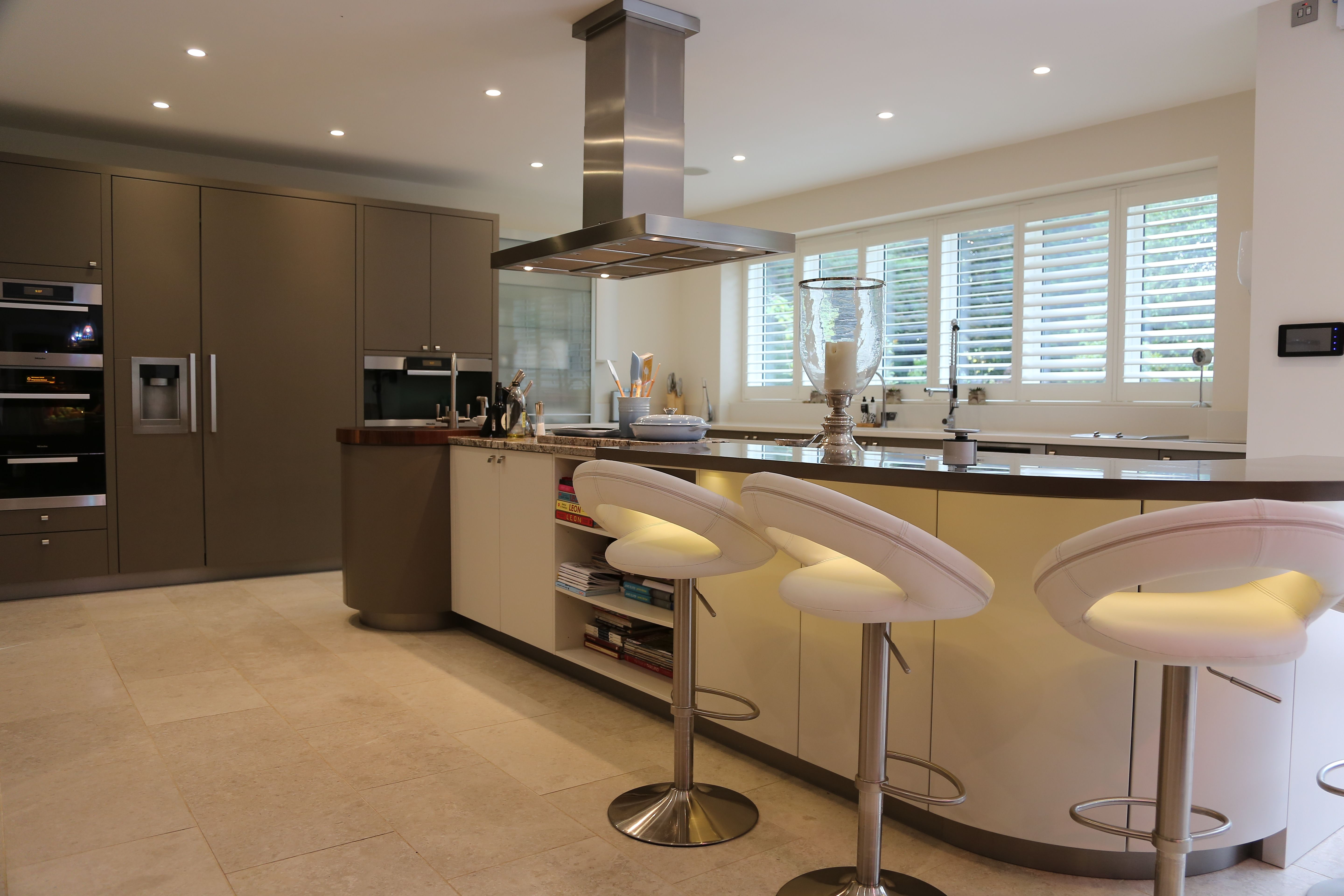 The Kitchen Furniture Company Satin Lacquer Beige And Gloss Magnolia By Hacker At The Kitchen