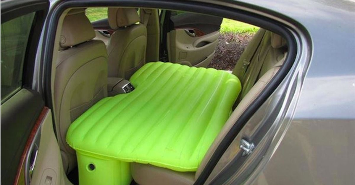Inflatable Mattress Turns Your Back Seat Into A Nap Pod