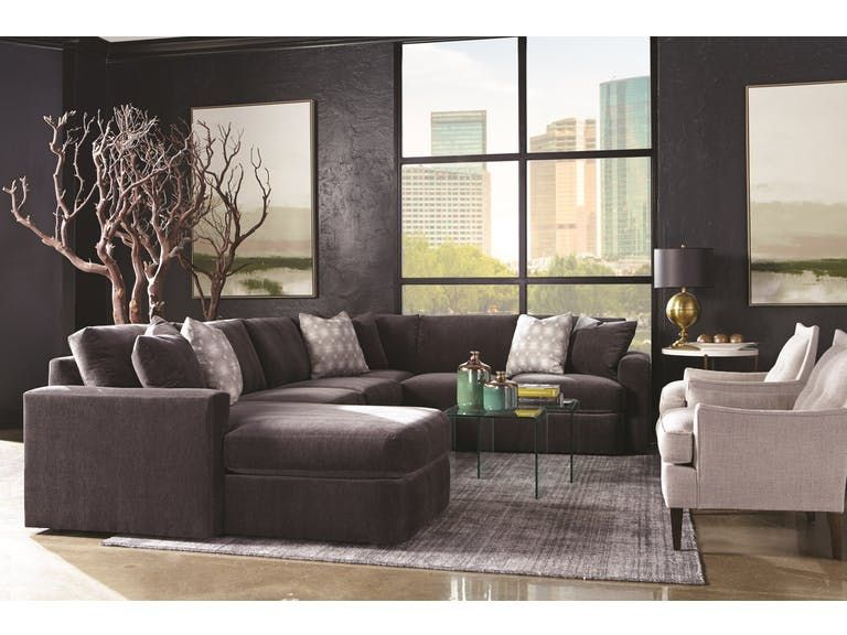 Rowe Living Room Lauren Sectional P-Sect - Tyndall Furniture