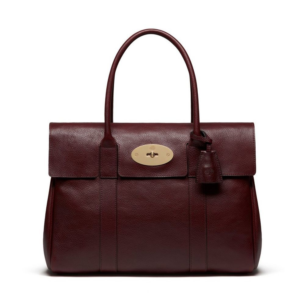 Bayswater Oxblood Coloured Natural Leather Women Mulberry