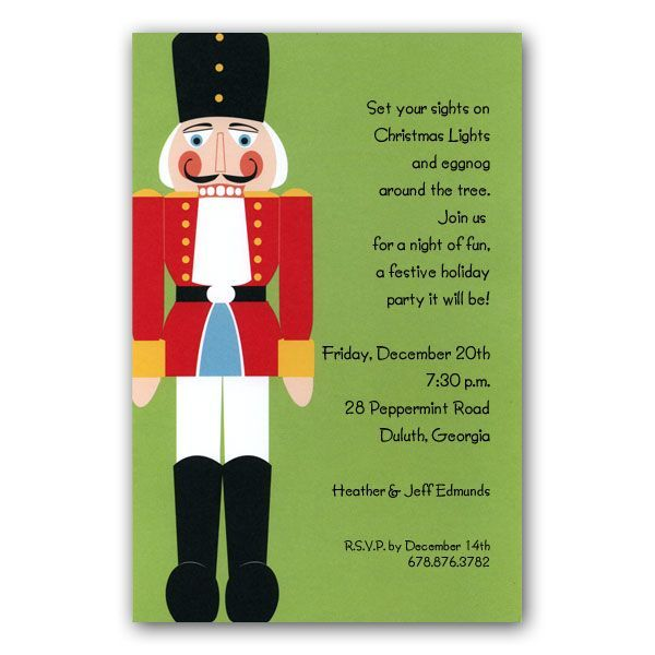 nutcracker christmas invitations clearance paperstyle