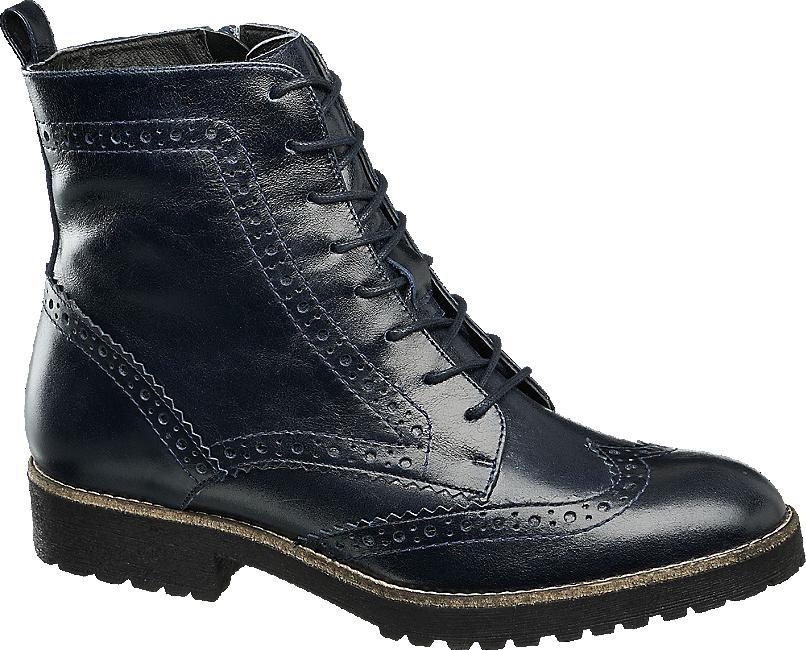 Schnurstiefelette Von 5th Avenue In Blau Deichmann Com Boots Combat Boots Shoes