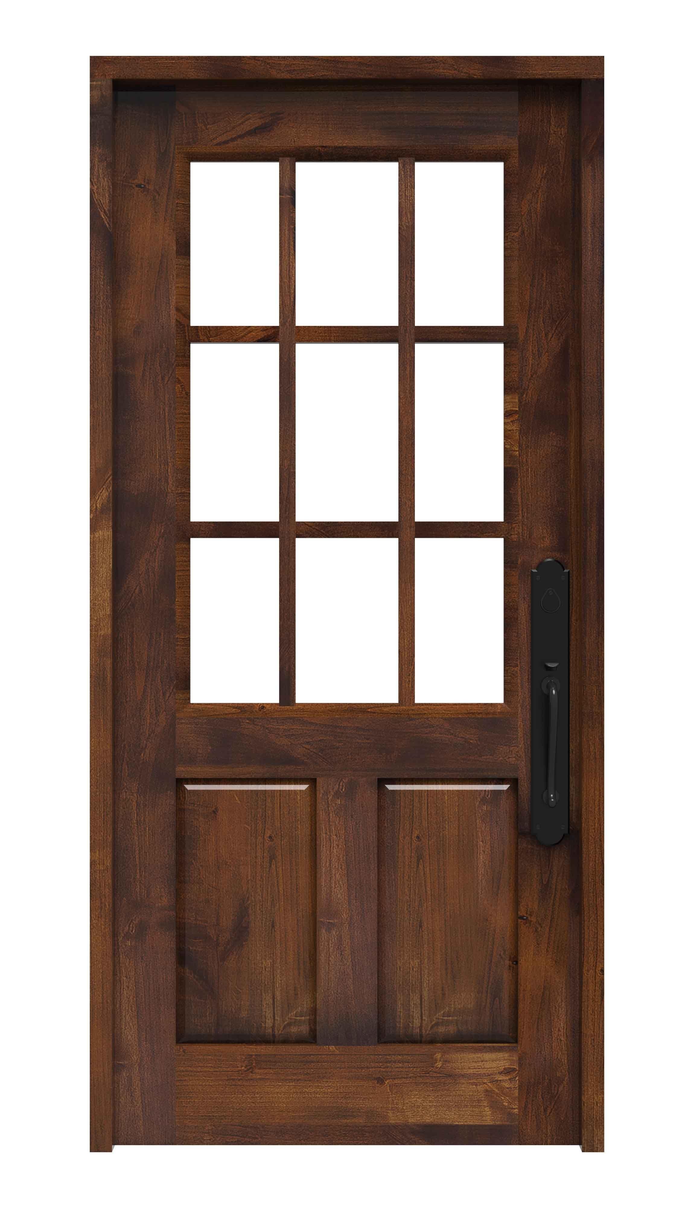 meet ef82c 4c73c Shop for a half glass door that features a combination of ...