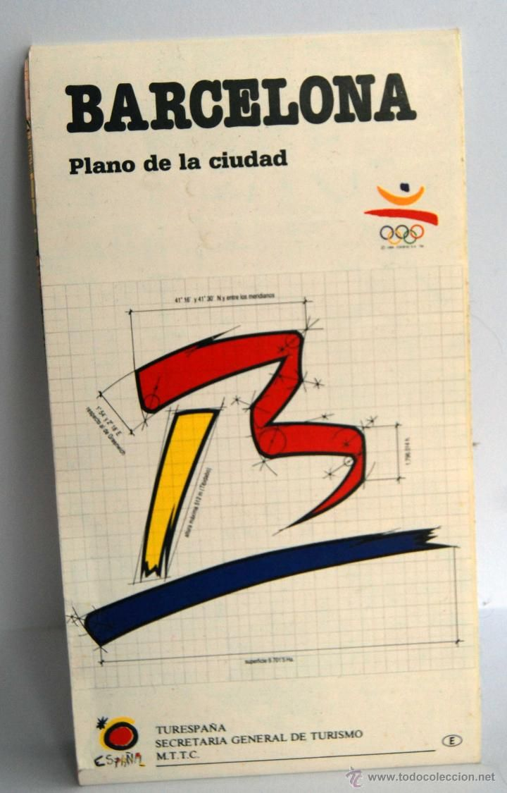 Mapa De Barcelona Plano De La Ciudad Juegos Olimpicos Barcelona 92