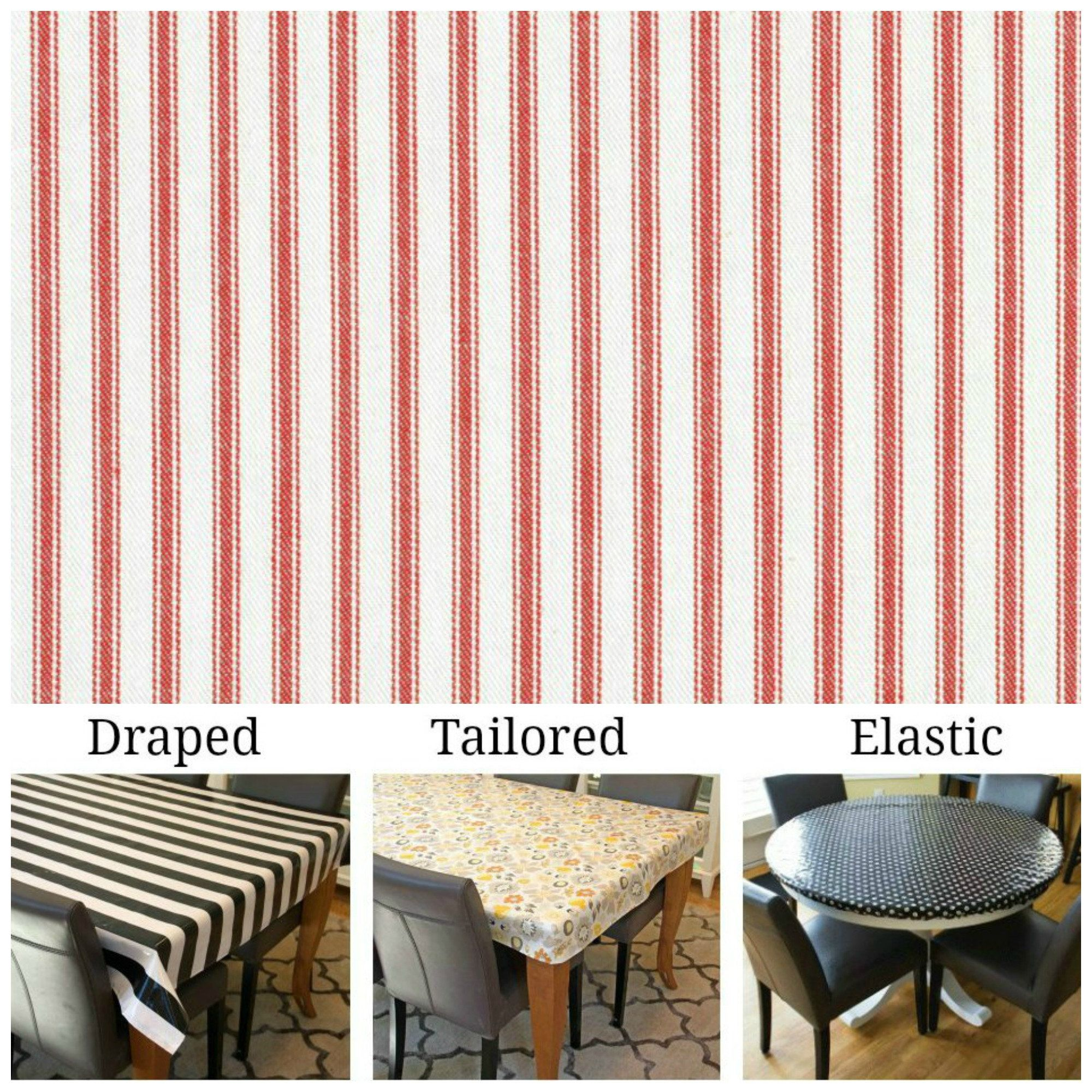 Laminated Cotton Aka Oilcloth Heavyweight Tablecloth Fitted By