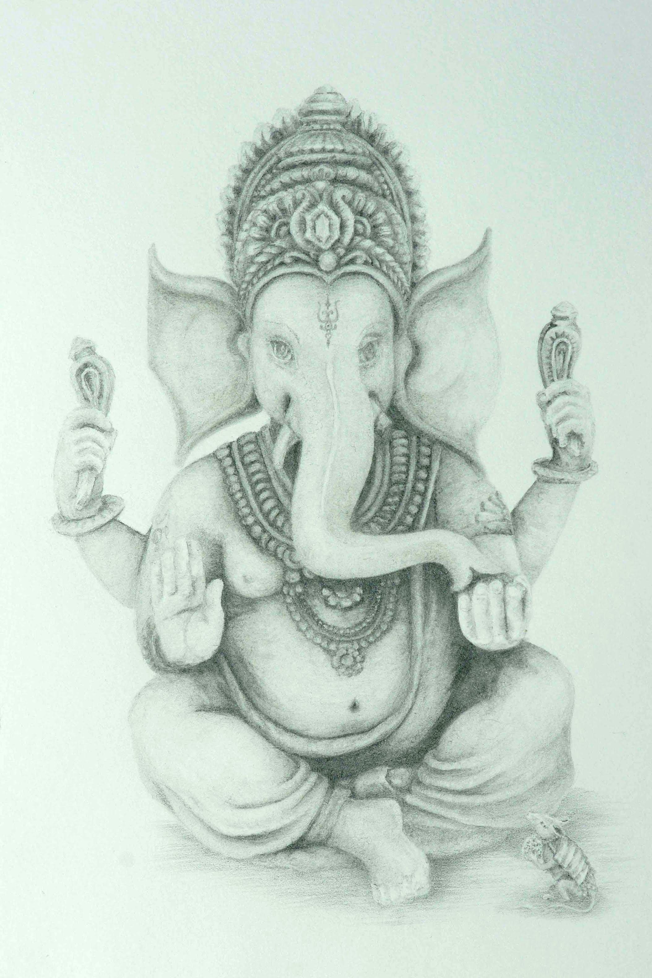 Ganesh pencil sketches drawing lord ganesha fine art pencil part 2 youtube