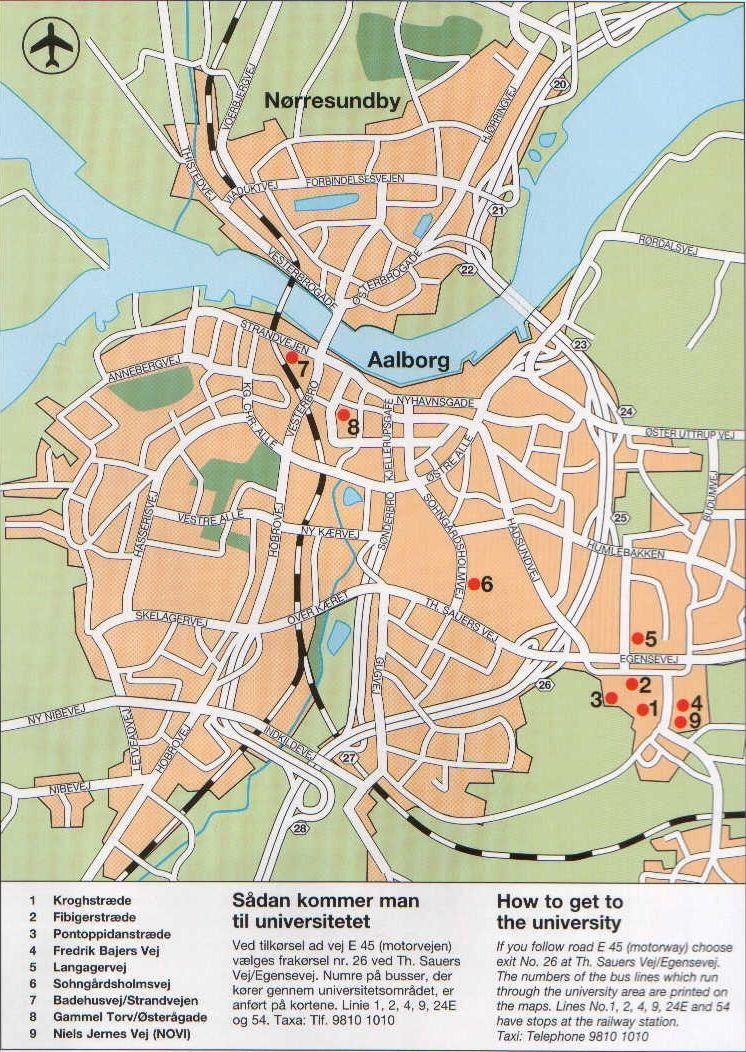 Aalborg City Map Aalborg Denmark Mappery Aalborg Denmark